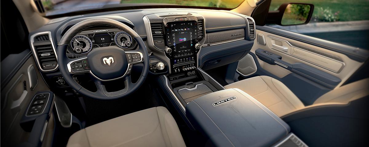 2019 Ram 1500 Limited – Indigo Frost Interior